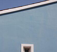 Window in Blue Wall by jojobob