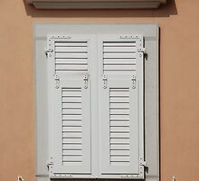White Shuttered Window by jojobob