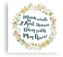 May Flowers brush script Canvas Print