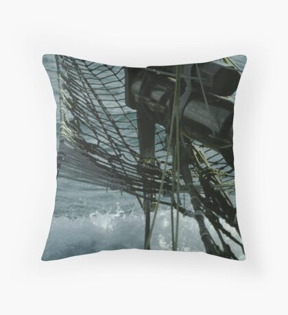 Ships Bow Throw Pillow