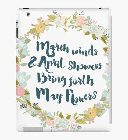 May Flowers brush script iPad Case/Skin