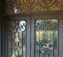 Iron Door With Glass Doors by irondoorsnow