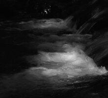 Spring Creek rapids 9 B&W by Lenny La Rue, IPA