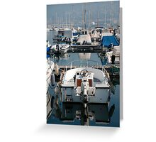 Boat at Trieste Harbour Greeting Card