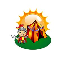 Little Knight Sunshine Camping Photographic Print