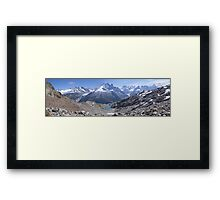 Panorama of the Chamonix valley from Lac Blanc Framed Print