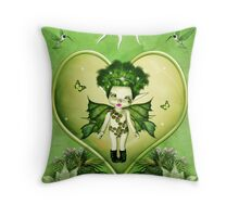 Pixie Green Throw Pillow