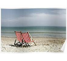 Deck chairs Poster