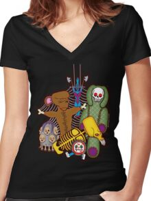 Twistid Toys Women's Fitted V-Neck T-Shirt