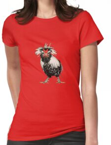 Bearded Silver Lace Polish Bantam Womens Fitted T-Shirt