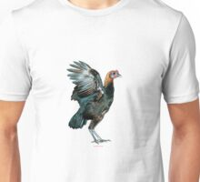 Brown Red Modern Game Hen Unisex T-Shirt