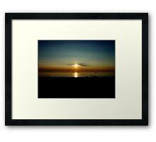 PinHole sunset Framed Print