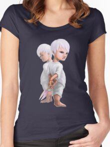 Scissors Game Women's Fitted Scoop T-Shirt