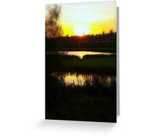 golden ponds Greeting Card