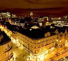 Manchester by night by Stephen Knowles