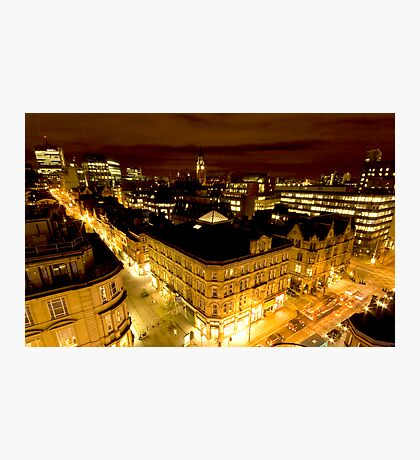 Manchester by night Photographic Print