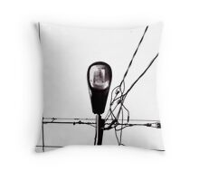 Street Light and Power Lines Throw Pillow