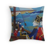 H.M.S.SARAH IN STORM BAY 1837 Throw Pillow