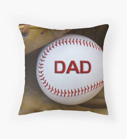 Baseball Card Throw Pillow