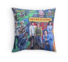 Mural on building wall Throw Pillow