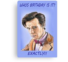 Who's birthday card Canvas Print