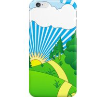 Green Grass Sunshine Elips PNG iPhone Case/Skin