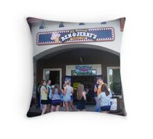 Free Ice Cream At Ben and Jerry's Throw Pillow