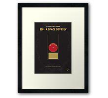 No003 My 2001 A space odyssey minimal movie poster Framed Print