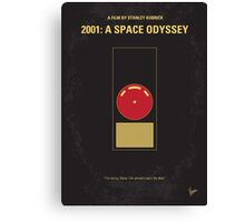 No003 My 2001 A space odyssey minimal movie poster Canvas Print