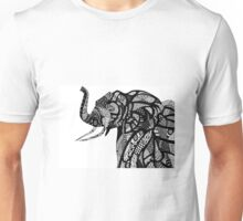 African Elephant in African Patterns Unisex T-Shirt