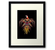 Flurry of feathers Framed Print