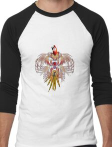 Flurry of feathers Men's Baseball ¾ T-Shirt