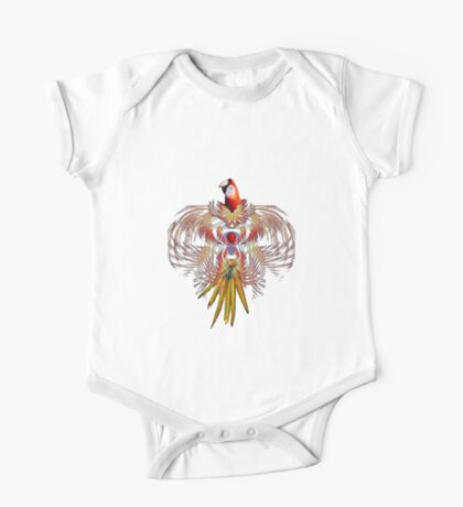 Flurry of feathers One Piece - Short Sleeve