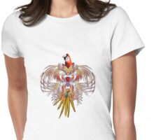 Flurry of feathers Womens Fitted T-Shirt