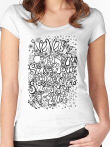 Never Confuse the Size of your Paycheck with the Size of your Talent Women's Fitted Scoop T-Shirt