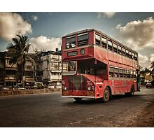 Bombay Bus Photographic Print