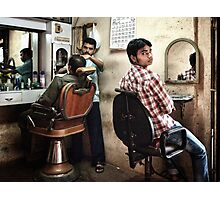 Some Serious Shaving Photographic Print