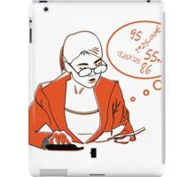 Female accountant, bookkeeper woman. iPad Case/Skin