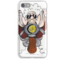 cool biker on a motorcycle , cartoon iPhone Case/Skin