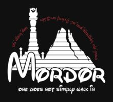 Mordor One Does Not Simply Walk in - Lord of the Rings by Glazzenka