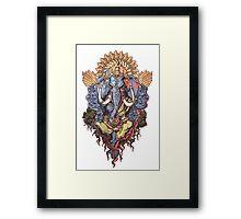 Ganesh ( Transparent Back) Framed Print