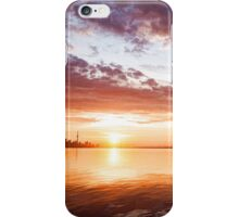 Pink and Gold Morning Zen - Toronto Skyline Impressions iPhone Case/Skin