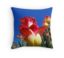It's A Tulip Sky Throw Pillow