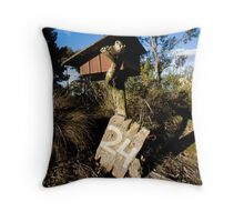 Lonely letterbox Throw Pillow
