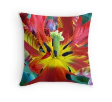 Inside the Tulip Throw Pillow