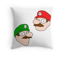 Mario Luigi  Throw Pillow