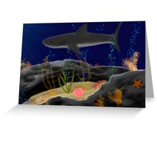 Silent swimmer Greeting Card