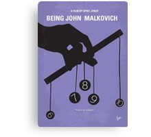 No009 My Being John Malkovich minimal movie poster Canvas Print