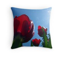 Tulips Reaching For the Sun Throw Pillow