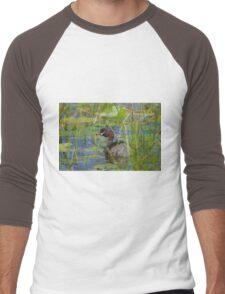 Waterlilly Dwelling Men's Baseball ¾ T-Shirt